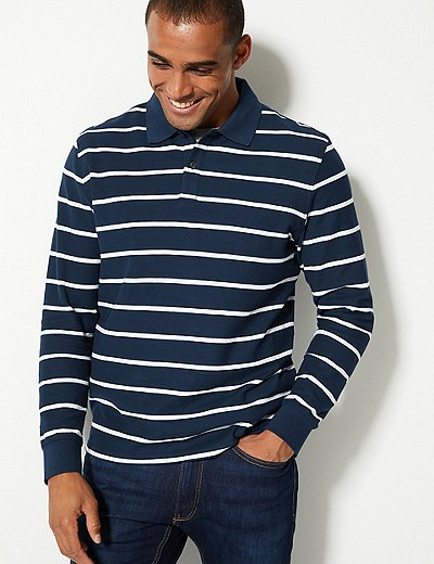 7ff2c8072ab Pure Cotton Striped Polo Shirt | Marks & Spencer London