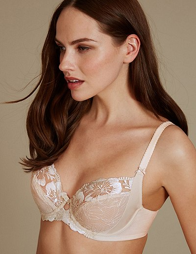ecebed2bb5f6 Embroidered Non-Padded Balcony Bra B-E | Marks & Spencer London