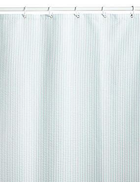 Pinstripe Seersucker Shower Curtains