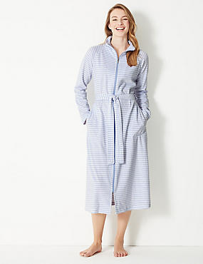 989872d738 Velour Striped Dressing Gown Velour Striped Dressing Gown