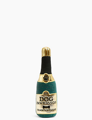 Champagne Bottle Dog Toy by Standard Tracked: