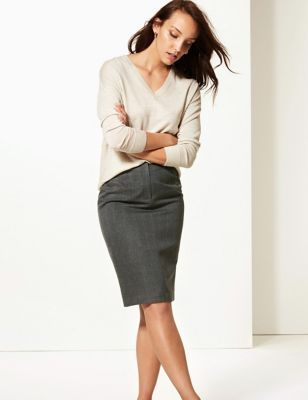 Marks & Spencer Button Detail Pencil Skirt - - 14/Long Lowest Price Online Outlet Store For Sale Discount Limited Edition o2Z0WEwq
