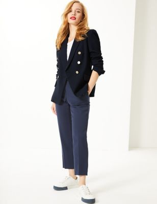 Petite Double Breasted Blazer by Standard Tracked: