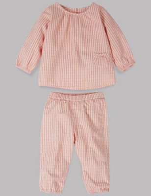 2 Piece Woven Checked Top & Bottom Outfit by Standard Delivery: