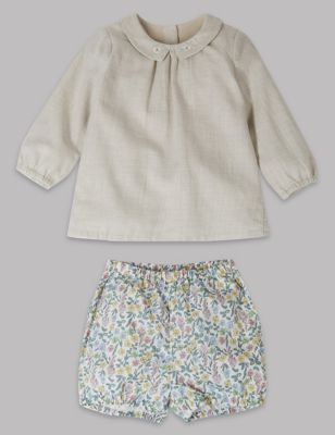 2 Piece Woven Top & Shorts Outfit by Standard Delivery: