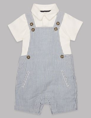 2 Piece Bodysuit & Dungaree Outfit by Standard Delivery:
