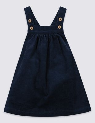 Cord Pure Cotton Pinny Baby Dress by Standard Delivery: