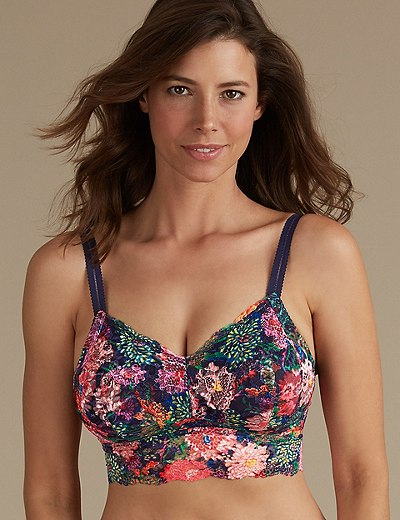 03c2789043c Lace Non-Padded Bralet DD+   Marks & Spencer London