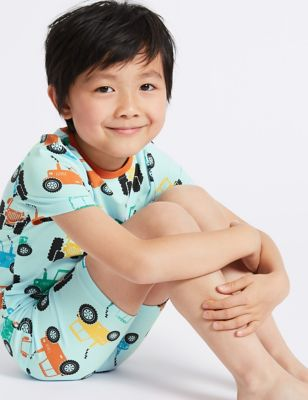 Cotton Printed Short Pyjamas (1 7 Years) by Standard Delivery: