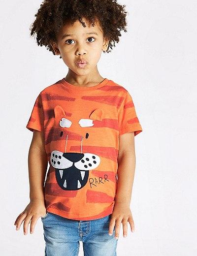 Camiseta 100% algodón de tigres (3 meses-7 años)  6c1ac88c40c