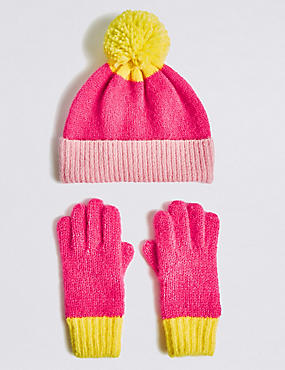 Conjunto infantil de guantes y gorro Conjunto infantil de guantes y gorro 14c0bd9377e