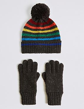 Conjunto infantil de guantes y gorro ... a278e3cbcc5
