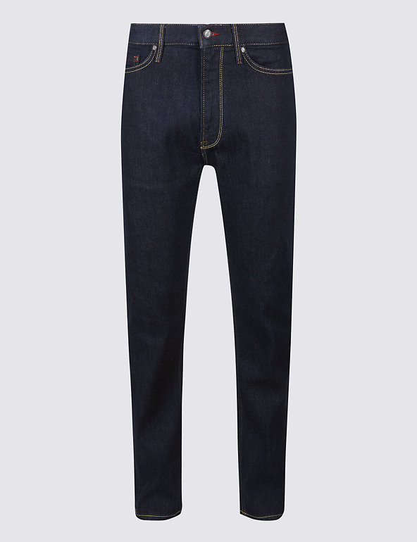 """New Marks /& Spencer BLUE HARBOUR Straight Fit Stretch Jeans Size 38/"""" L29"""