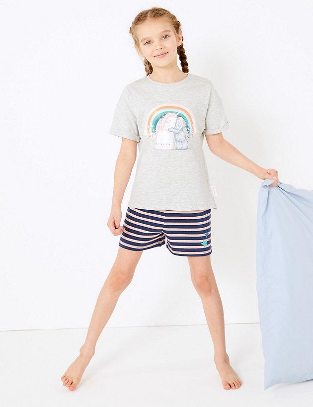 NEW STORE Shortie summer Pyjama set GIRL Peppa Pig shorts /& vest cotton 5-6 yrs