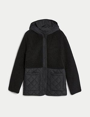 99b4498cdc Textured Animal Print Coat | M&S Collection | M&S