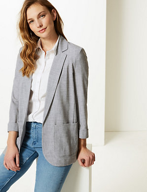 c831831d89e8a Textured Open Front Blazer | M&S Collection | M&S