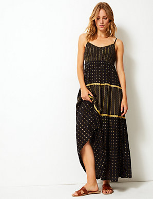prevalent good quality wide range Textured Swing Maxi Dress