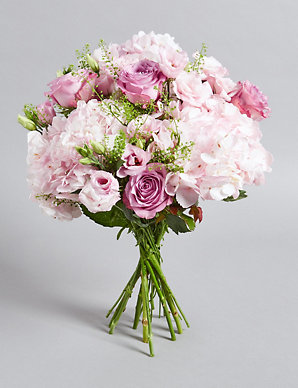 e6ea0c494bae The Collection Pink Rose   Hydrangea Bouquet