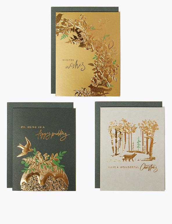 Traditional Foiled Charity Christmas Cards Pack Of 20 M S