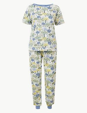 507a9c0f8 Tree Cuffed Hem Pyjama Set