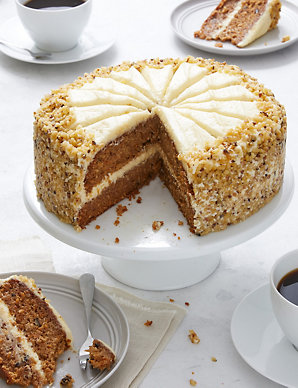 Astonishing Triple Layer Carrot Cake Serves 14 Ms Personalised Birthday Cards Bromeletsinfo