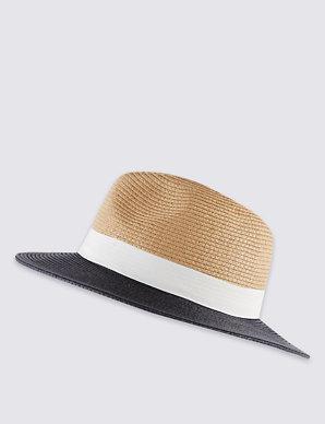 763ab1a14f7ad Two Tone Fedora Hat