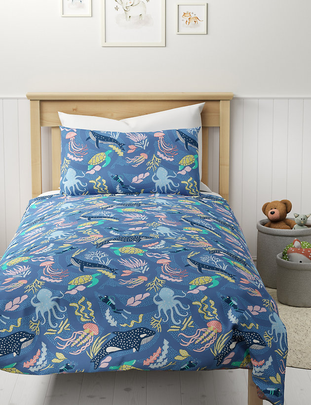 Under the Sea Glow in the Dark Reversible Bedding Set