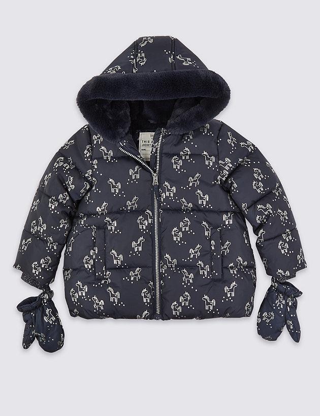 Unicorn Padded Coat (3 Months - 7 Years)