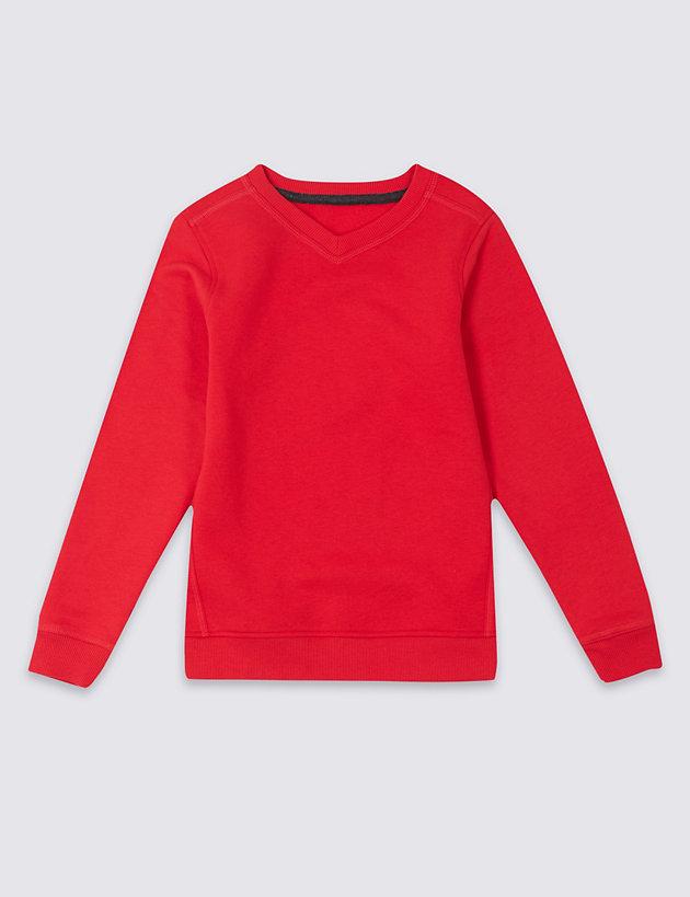 Unisex V Neck Sweatshirt