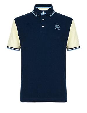 best website 9867d 7d2ef University of Oxford Pure Cotton Polo Shirt | Blue Harbour | M&S