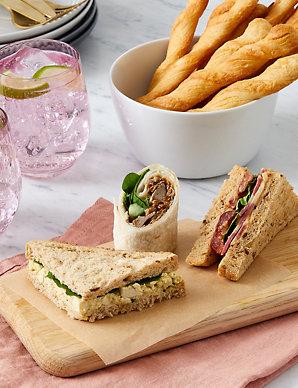 Vegan Sandwich Wrap Platter 20 Pieces