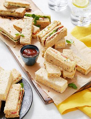 Vegetarian Sandwich Finger Platter 20 Pieces