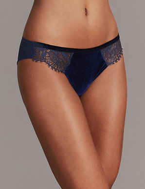 6c229b6b1cb3 Velvet   Lace Brazilian Knickers