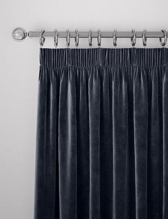 Velvet Pencil Pleat Curtain M S, How To Wash Cotton Velvet Curtains
