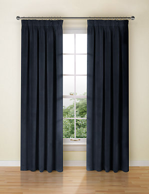 ca9b6a5df64b Velvet Pencil Pleat Curtains | M&S