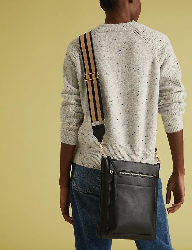 Webbing Strap Messenger Bag   M&S Collection   M&S
