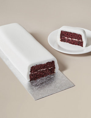 1ad091f70 Wedding Cutting Bar Cake – Red Velvet Chocolate Sponge with Cream Cheese  Frosting and White Icing (Serves 22)   M&S
