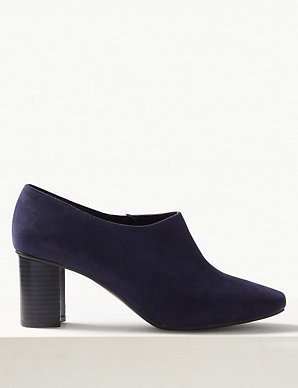 c880176dbe Wide Fit Block Heel Shoe Boots | M&S Collection | M&S