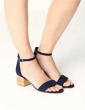 d5d56aa8dd0b Wide Fit Block Heel Two Part Sandals