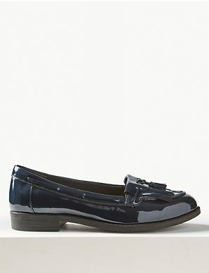 hot sale online discover latest trends luxury aesthetic Wide Fit Patent Tassel Loafers