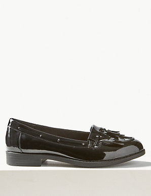 ede66d9817617 Wide Fit Patent Tassel Loafers | M&S Collection | M&S