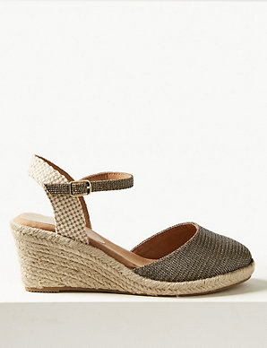 ce568018b8e Wide Fit Wedge Heel Espadrilles