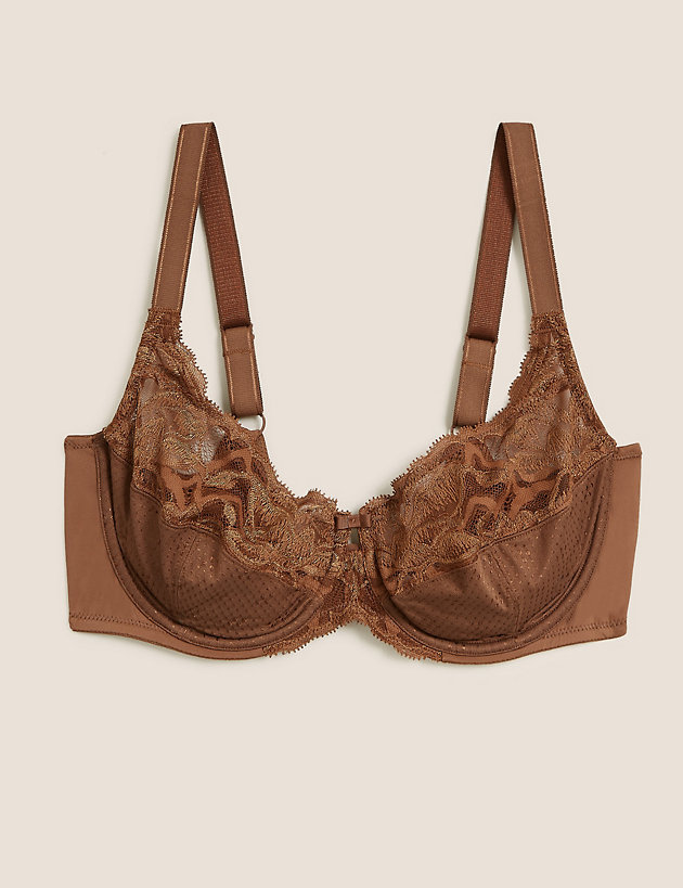 M /& S UNDERWIRED FULL CUP  BRA   LUXURY EMBROIDERY BLACK MARKS /& SPENCER