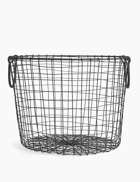 Wire Round Storage Basket M S
