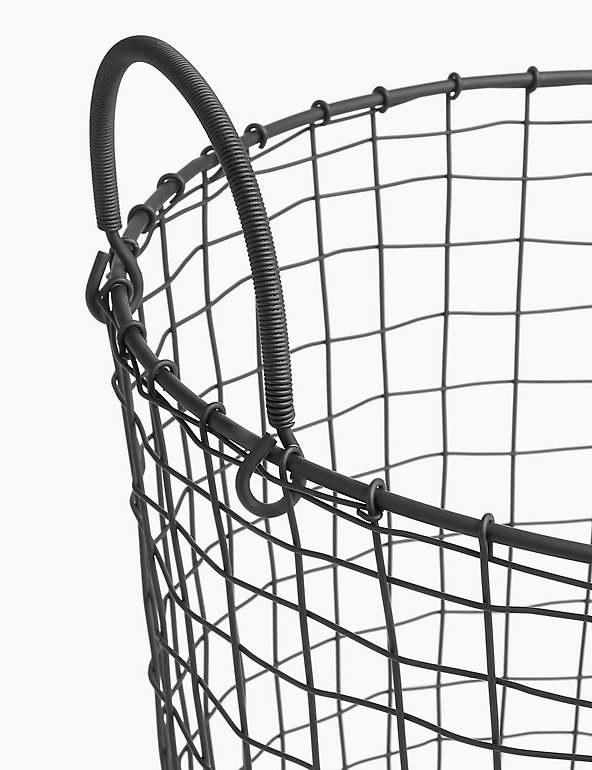 Wire Round Storage Basket M S, Large Round Wire Basket