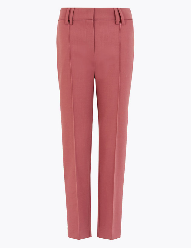 Wool Blend Slim Leg Cropped Trousers by Marks-and-Spencer, available on marksandspencer.com for EUR59 Kate Middleton Pants Exact Product