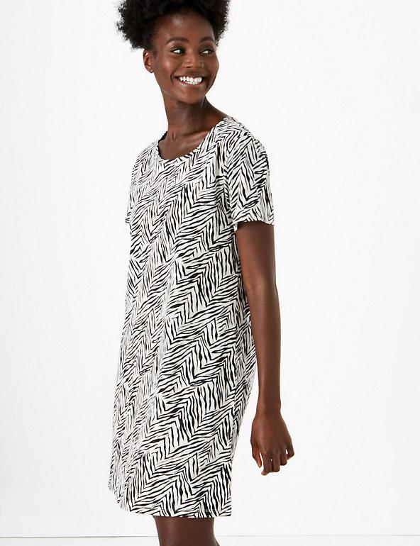 NEW MARKS /& SPENCER Night Dress Women Ladies M/&S Zebra Print Long Nightie BR136
