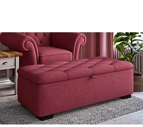 Button Ottoman Footstool
