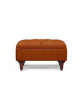 Highland Button Storage Footstool