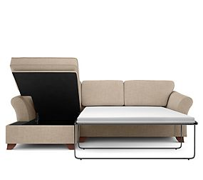 Abbey Corner Chaise Storage Sofa Bed (Left-Hand)
